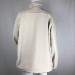 L.L. Bean Tops - L. L. Bean Off White 1/4 Zip Fleece Size L